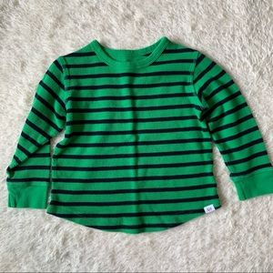BABY GAP | Green and Navy Blue Striped Shirt